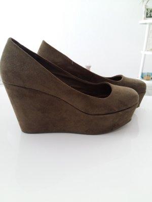 H&M Schuhe in Khaki