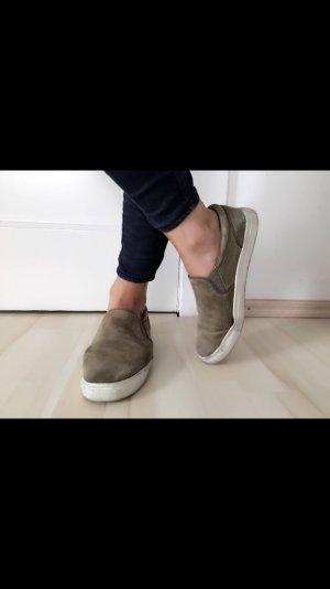 H&m Schuhe in Khaki/weiß