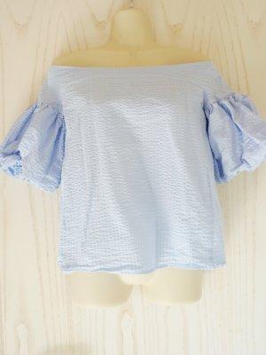 H&M Blusa alla Carmen azzurro