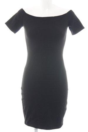 H&M Off the shoulder jurk zwart casual uitstraling