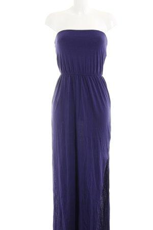 H&M schulterfreies Kleid dunkelviolett Casual-Look