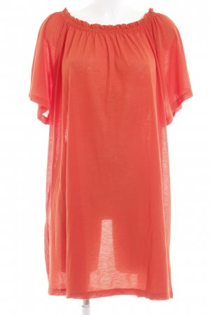 H&M Off the shoulder jurk neonoranje casual uitstraling