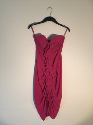 H&M Schulterfreies Kleid pink Volants 36
