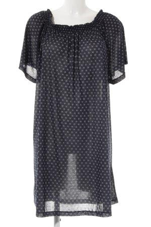 H&M schulterfreies Kleid Punktemuster Casual-Look