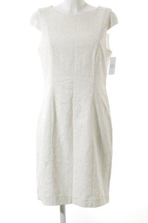 H&M schulterfreies Kleid wollweiß florales Muster Elegant