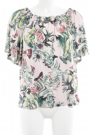 H&M schulterfreies Top florales Muster Casual-Look