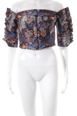 H&M schulterfreies Top florales Muster Romantik-Look