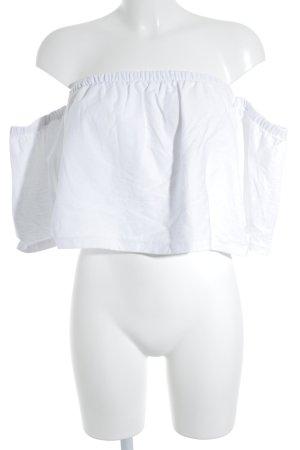 H&M schulterfreies Top weiß Elegant