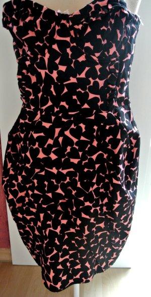 H&M Schwarz/Pinkes Kleid Größe 38