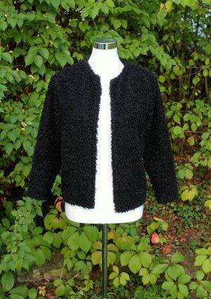 H&M schwarze Faux fur Jacke / Fake fur Jacke Gr. 36