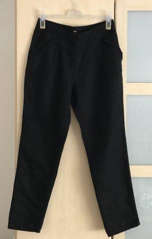 H&M schwarze Leinenhose