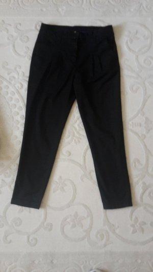 H&M Pantalon à pinces noir-bleu polyester