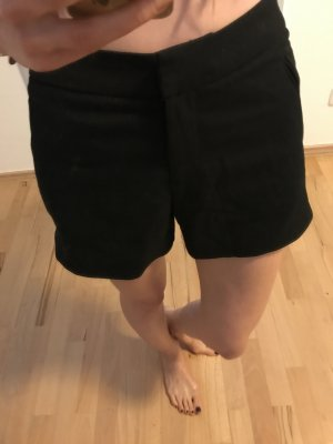 h&m schwarze Taillenshorts in xxs