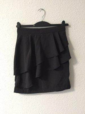 H&M schwarzer Volantrock 36