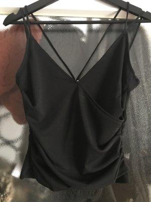 H&M schwarzes Crop Top Größe S
