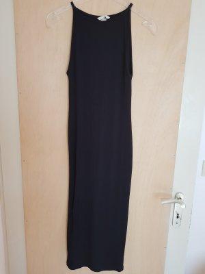 H&M Schwarzes Enges Geripptes Kleid Midikleid Größe 36