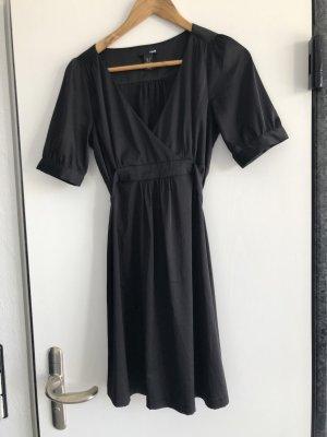 H&M schwarzes Kimonokleid
