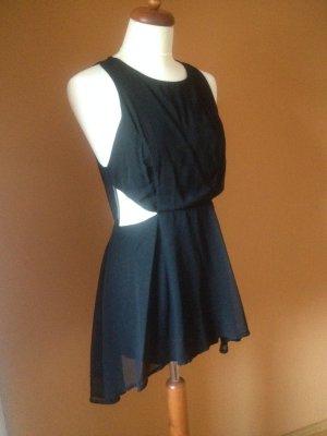H&M Schwarzes, kurzes Kleid mit Cut-Outs