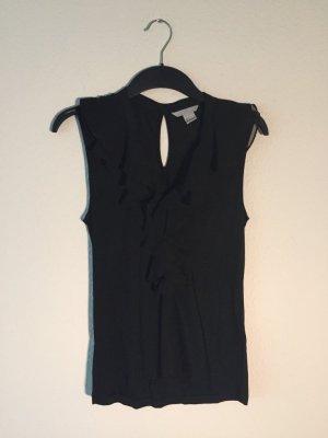 H&M schwarzes Volant-Shirt S