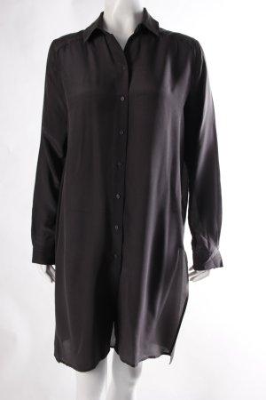H&M Seiden Hemd-Bluse grau