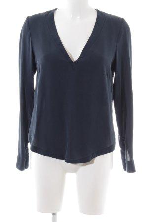 H&M Silk Blouse blue casual look