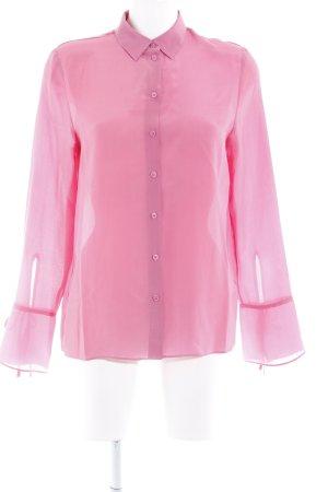 H&M Seidenbluse pink Schimmer-Optik