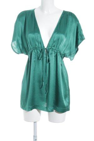 H&M Seidenbluse waldgrün Elegant