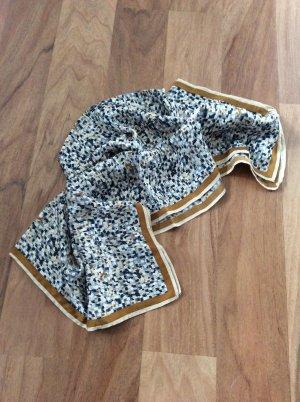 H&M Seidentuch, 60x60 cm, beige, dunkelblau, creme