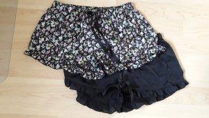 H&M Set Satinshorts Pyjama schwarz Millefleur Gr. S