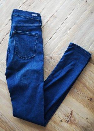 H&M Shaping Jeans blau high waist natürliche Taille Baumwolle super Skinny 25/32