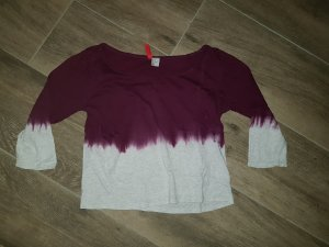 H&M Batik shirt wit-donkerpaars