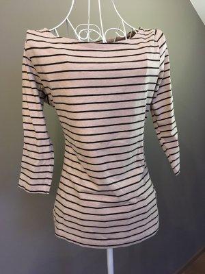 H&M Boothalsshirt zwart-nude Katoen