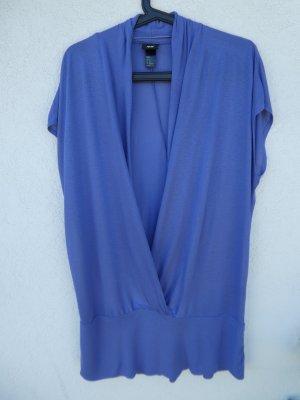 H&M  – Shirt, blau-lila - Gebraucht
