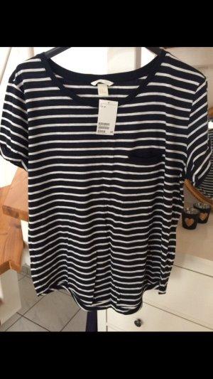 H&M Shirt blau weiß neu