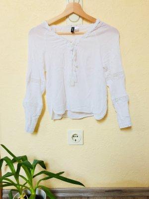H&M Camisa de rayas blanco