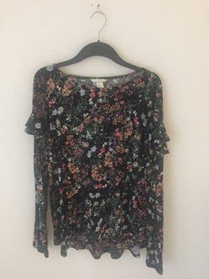 H&M Shirt geblümt mit Volants
