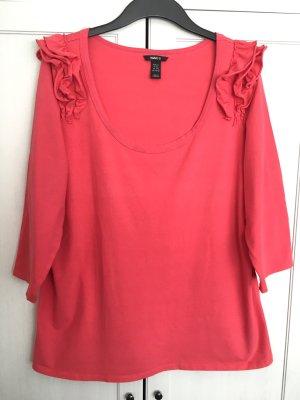 H&M Shirt Gr. 46 - helles korallenrot