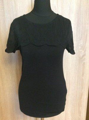 H& M Shirt Gr S mit Spitze schwarz