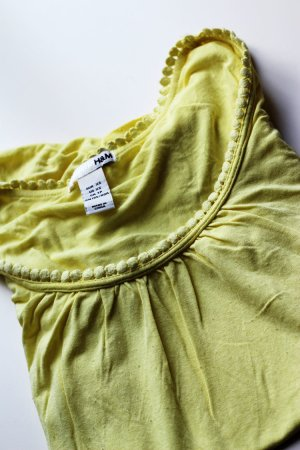 H&M Shirt, Gr.XS, blassgelb, gerafft