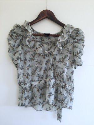 H&M Shirt hellblau mit Vogelmotiv