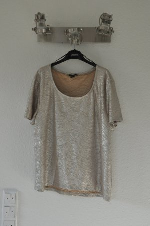 H&M Shirt in metallic, silber glänzend, trend, blogger, oversized, hipster