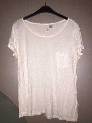 H&M Shirt L weiß