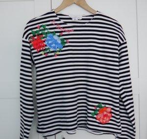 H&M Maglietta a righe nero-bianco Cotone