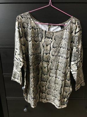 H&M Shirt mit Animalprint M braun schwarz