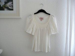 H&M Gehaakt shirt wit Katoen