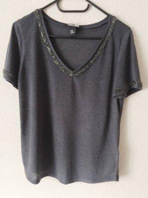 H&M Shirt mit Glitzersteinchen