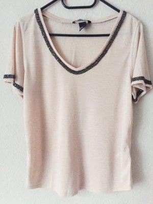 H&M Shirt mit Glitzersteinchen rosa