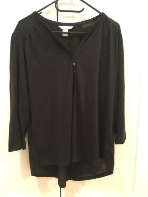 H&M Shirt mit Knopfleiste schwarz