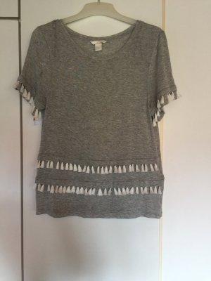 H&M T-shirt grijs-wit