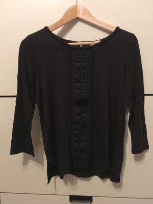 H&M Shirt mit Stickerei Gr. S schwarz